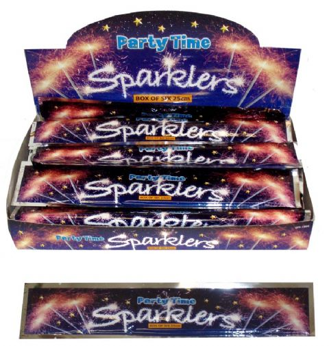 25cm Hand Held Sparklers (6 Pack) Party Time